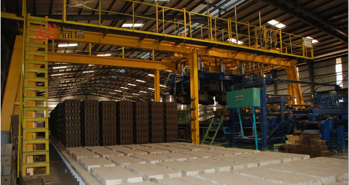 Brick making line